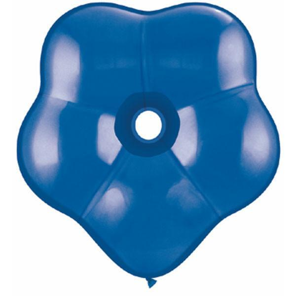 GEO BLOSSOM LATEX BALLOON 40CM - DARK BLUE