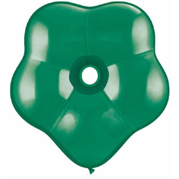 GEO BLOSSOM LATEX BALLOON 15CM - EMERALD GREEN