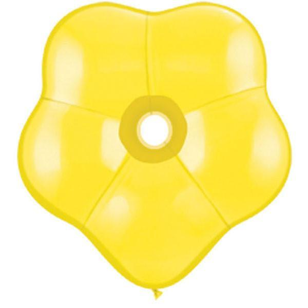 GEO BLOSSOM LATEX BALLOON 40CM - FASHION YELLOW