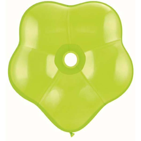 GEO BLOSSOM LATEX BALLOON 15CM - LIME GREEN