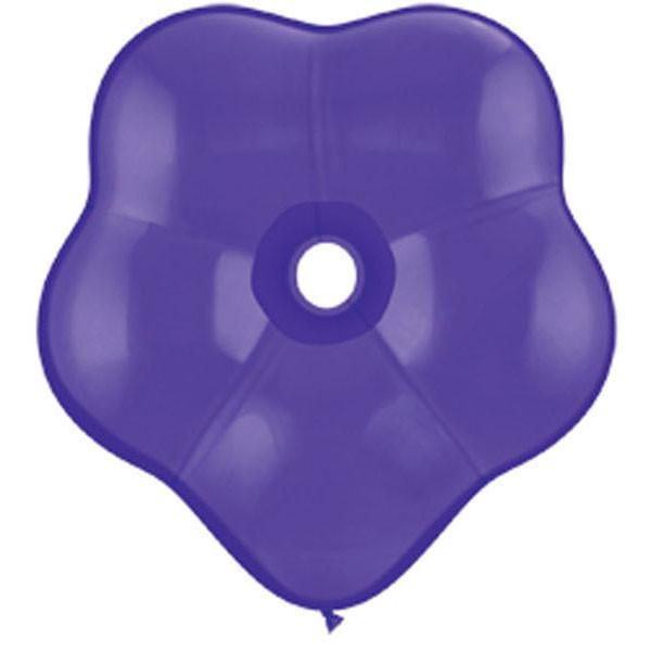 GEO BLOSSOM LATEX BALLOON 40CM - PURPLE VIOLET