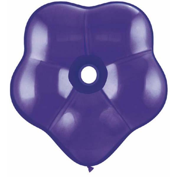 GEO BLOSSOM LATEX BALLOON 15CM - QUARTZ PURPLE