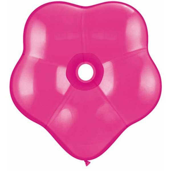 GEO BLOSSOM LATEX BALLOON 15CM - WILDBERRY PK 50