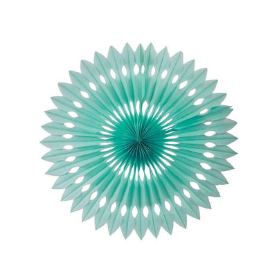 HANGING PAPER FANS 24CM MINT GREEN