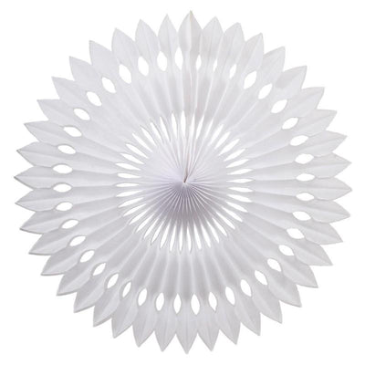 HANGING PAPER FANS 24CM WHITE