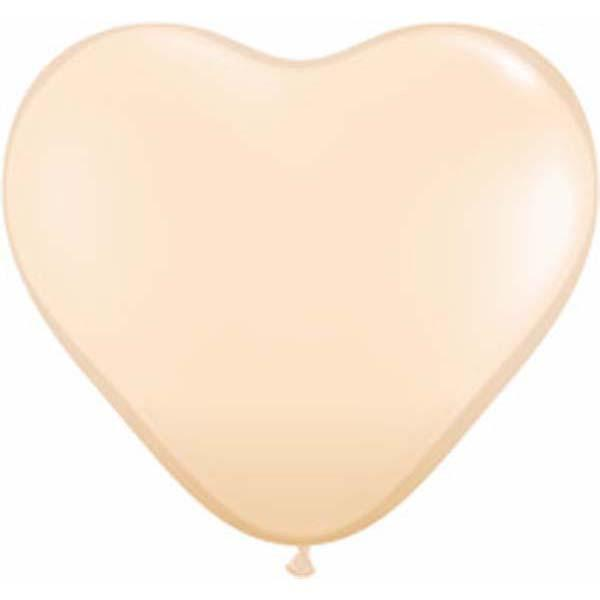 HEART LATEX BALLOON 15CM - FASHION BLUSH