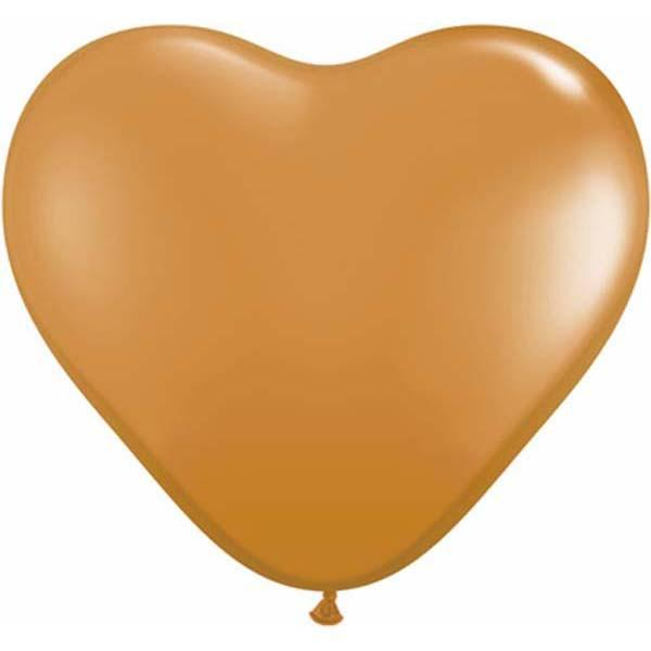HEART LATEX BALLOON 15CM - FASHION MOCHA BROWN PK 100