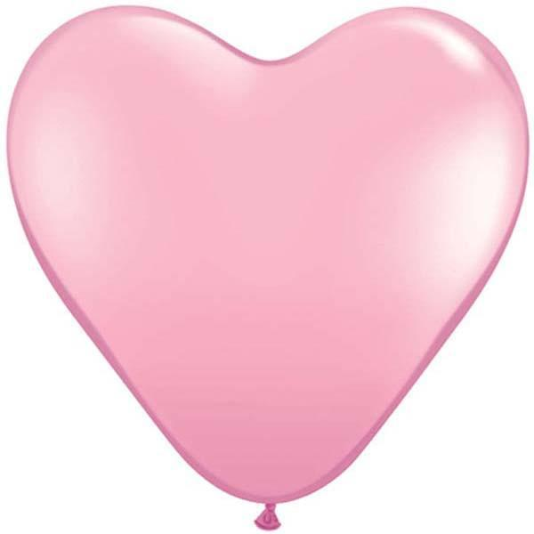 HEART LATEX BALLOON 28CM - FASHION PINK
