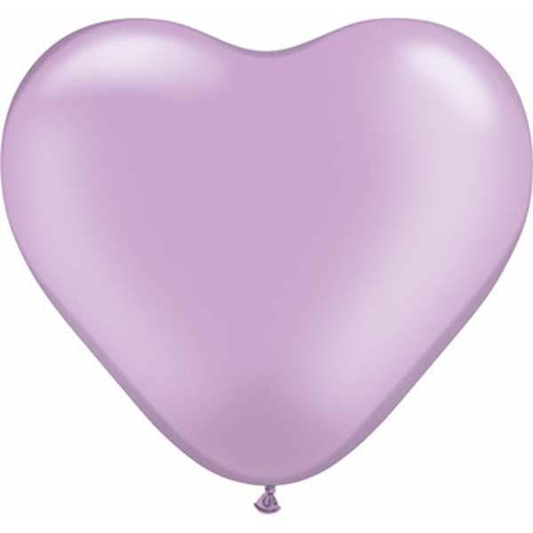 HEART LATEX BALLOON 15CM - PEARL LAVENDER PK 100