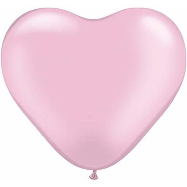 HEART LATEX BALLOON 15CM - PEARL PINK PK 100