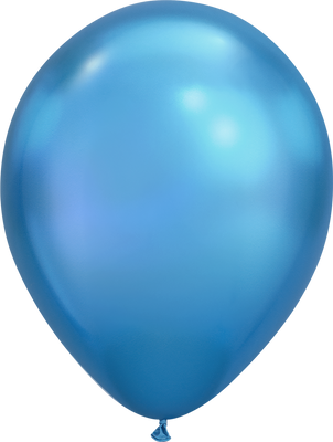 LATEX BALLOON 28CM - CHROME BLUE PK 25