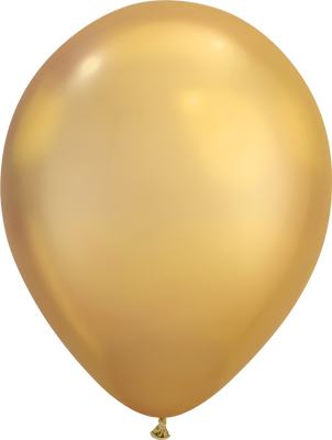 LATEX BALLOON 28CM - CHROME GOLD PK 25
