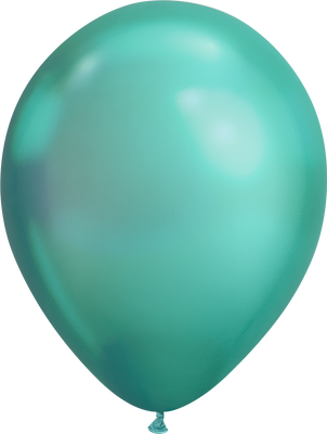 LATEX BALLOON 28CM - CHROME GREEN PK 25