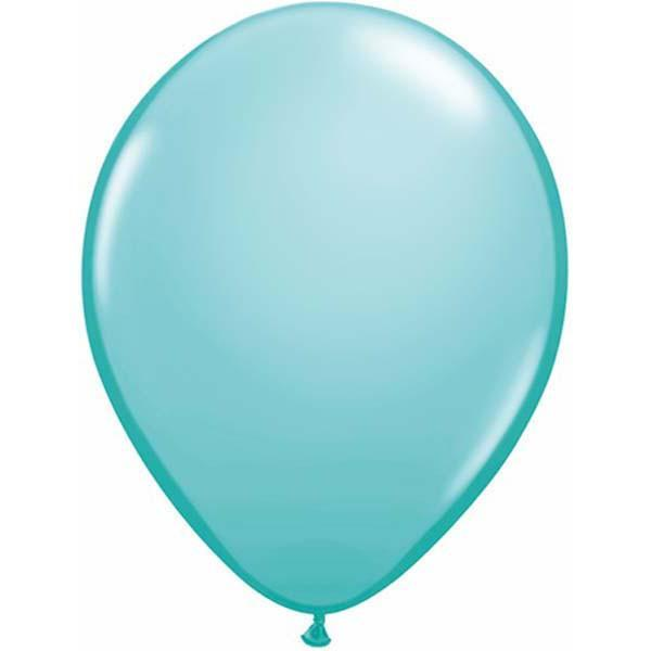 LATEX BALLOON 28CM - FASHION CARIBBEAN BLUE PK 100