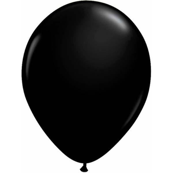 LATEX BALLOON 12CM - FASHION ONYX BLACK PK 100