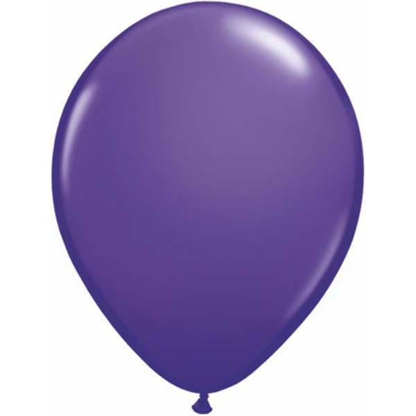 LATEX BALLOON 28CM - FASHION PURPLE VIOLET PK 100