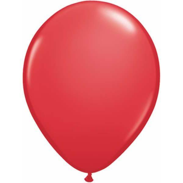 LATEX BALLOON 28CM - FASHION RED PK 100
