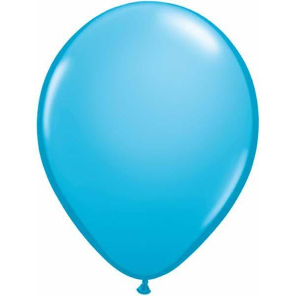 LATEX BALLOON 12CM - FASHION ROBINS EGG BLUE PK 100