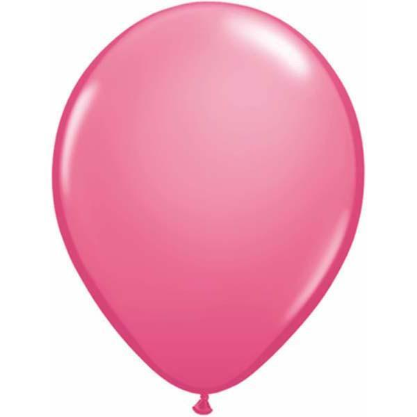 LATEX BALLOON 28CM - FASHION ROSE PK 100