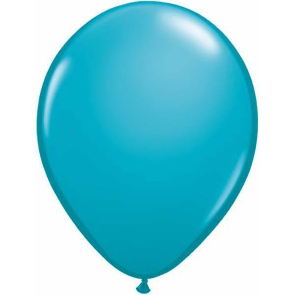 LATEX BALLOON 28CM - FASHION TROPICAL TEAL PK 100