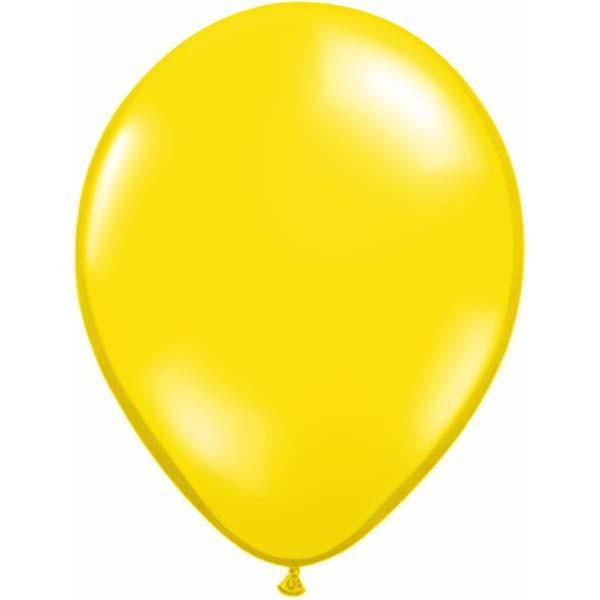 LATEX BALLOON 28CM - JEWEL CITRINE YELLOW PK 100