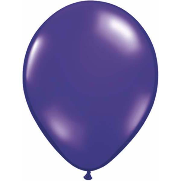 LATEX BALLOON 28CM - JEWEL QUARTZ PURPLE PK 100