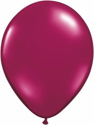 LATEX BALLOON 12CM - JEWWEL SPARKLING BURGUNDY PK 100