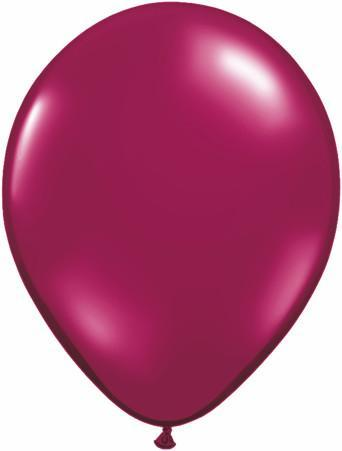LATEX BALLOON 12CM - JEWWEL SPARKLING BURGUNDY
