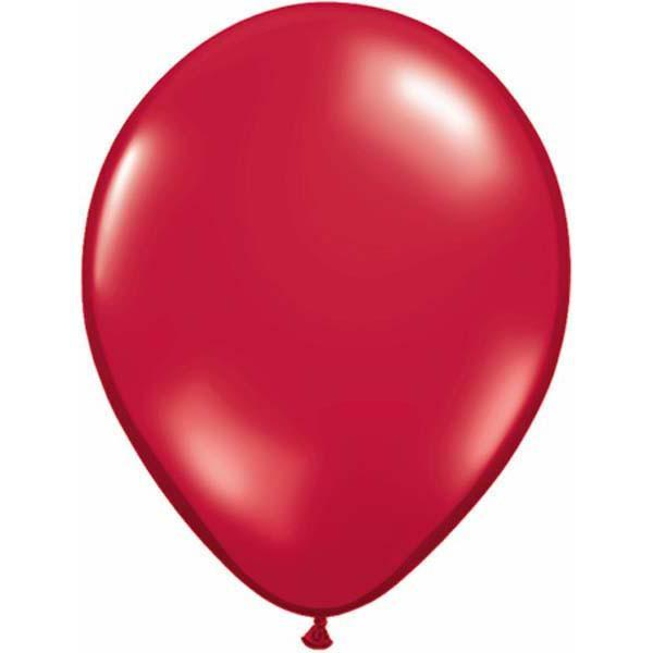 LATEX BALLOON 12CM - JEWWL RUBY RED PK 100