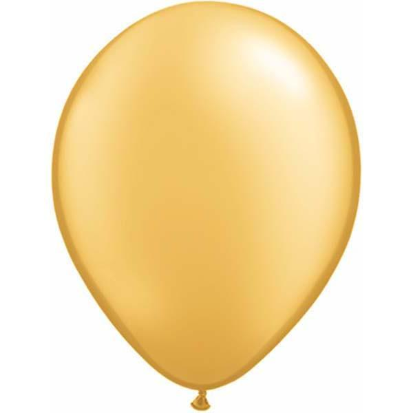 LATEX BALLOON 28CM - METALLIC GOLD PK 100