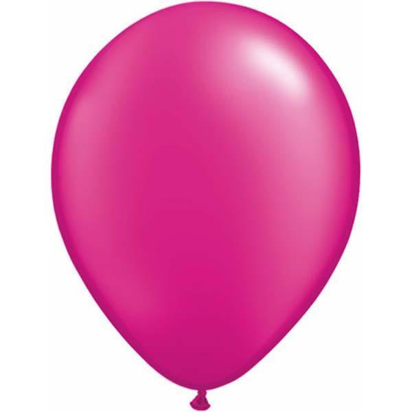 LATEX BALLOON 28CM - PEARL MAGENTA PK 100
