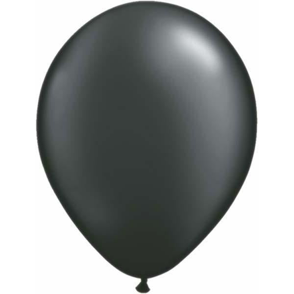 LATEX BALLOON 12CM - PEARL ONYX BLACK PK 100