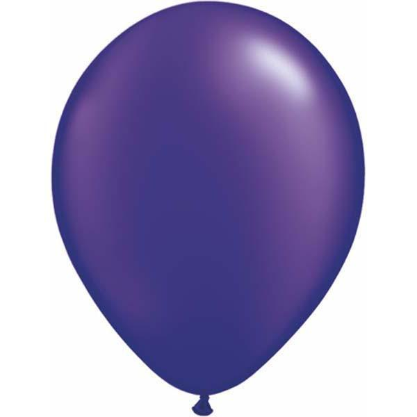 LATEX BALLOON 28CM - PEARL QUARTZ PURPLE PK 100
