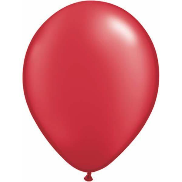 LATEX BALLOON 28CM - PEARL RUBY RED PK 100