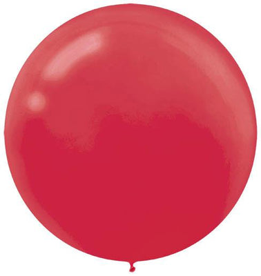 LATEX BALLOON 60CM - APPLE RED PK 4