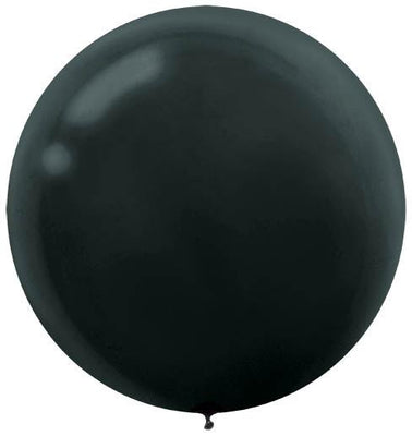 LATEX BALLOON 60CM - BLACK PK 4