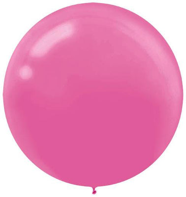 LATEX BALLOON 60CM - BRIGHT PINK PK 4