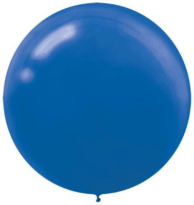 LATEX BALLOON 60CM - BRIGHT ROYAL BLUE PK 4
