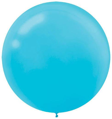LATEX BALLOON 60CM - CARIBBEAN BLUE PK 4