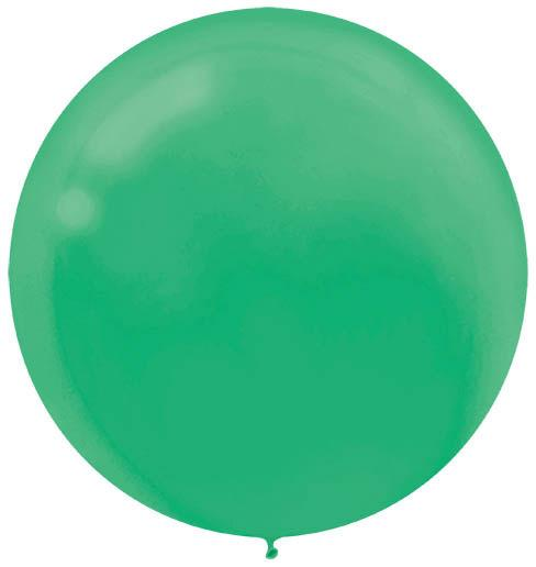 LATEX BALLOON 60CM - FESTIVE GREEN PK 4