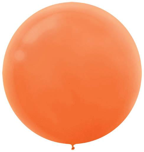 LATEX BALLOON 60CM - ORANGE PK 4