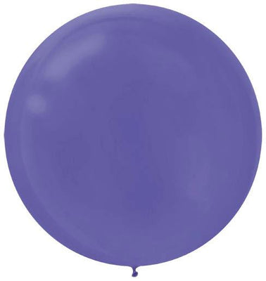 LATEX BALLOON 60CM - PURPLE PK 4