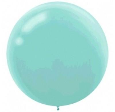 LATEX BALLOON 60CM - ROBIN'S EGG BLUE PK 4