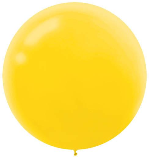 LATEX BALLOON 60CM - YELLOW