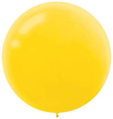 LATEX BALLOON 60CM - YELLOW PK 4