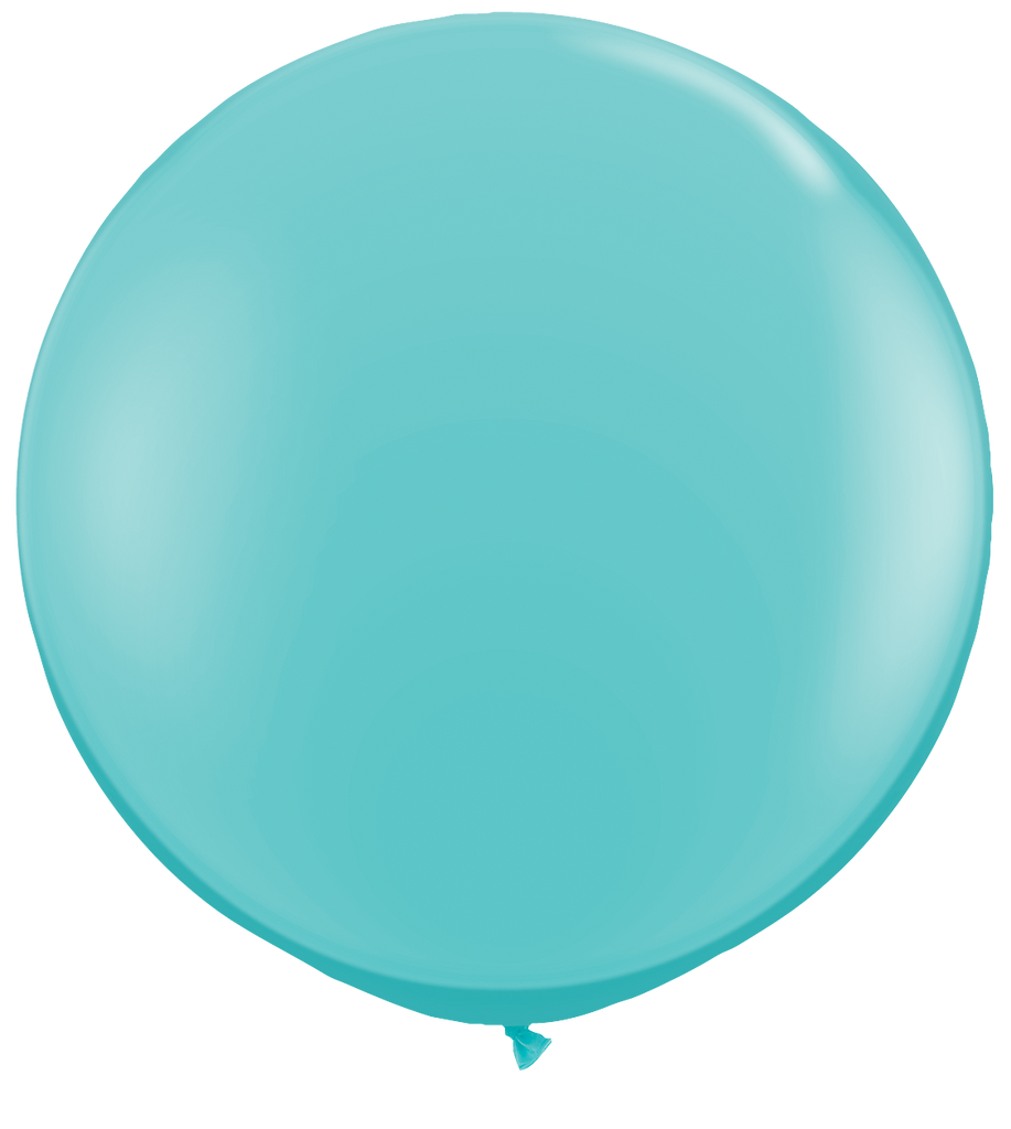 LATEX JUMBO BALLOON 90CM - FASHION CARIBBEAN BLUE