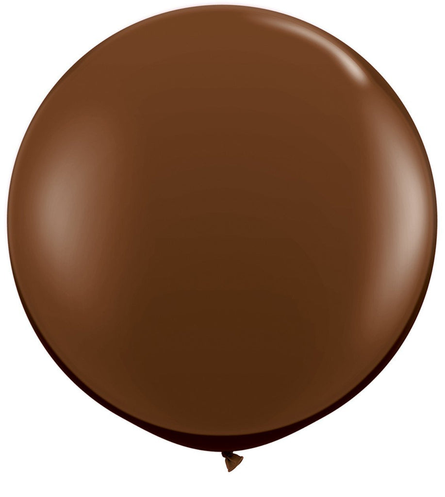 LATEX JUMBO BALLOON 90CM - FASHION CHOCOLATE BROWN PK 2