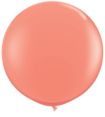 LATEX JUMBO BALLOON 90CM - FASHION CORAL PK 2