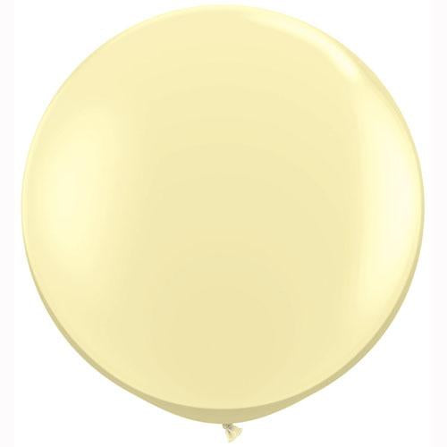LATEX JUMBO BALLOON 90CM - FASHION IVORY SILK