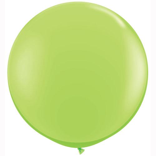 LATEX JUMBO BALLOON 90CM - FASHION LIME GREEN PK 2